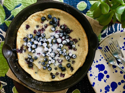 Off-Kilter: Blueberry Dutch Baby