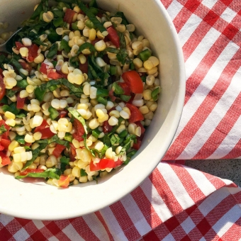 Hanging On: Bryant Terry's Fresh Corn Salad with Bell Peppers and Tomatoes