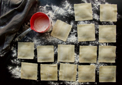 Workhorses: Turnip-Apple Ravioli with Miso-Brown Butter Sauce