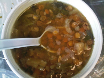 Lentil soup for the soul and a friend
