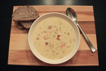 The conflicted vegetarian and her chowder