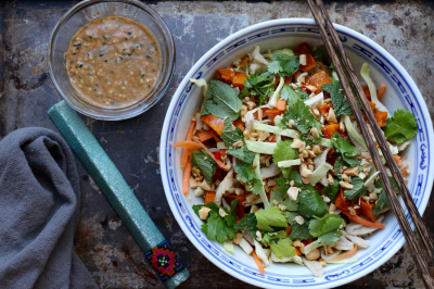 Bragging right: Buckwheat noodle salad with winter vegetables