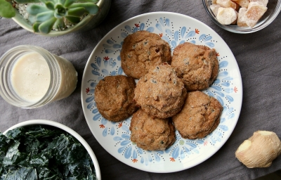 Of green cookies and blue moods: A recipe for ginger molasses kale cookies