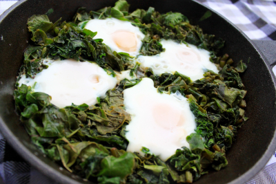 Page 208: A recipe for greens shakshuka
