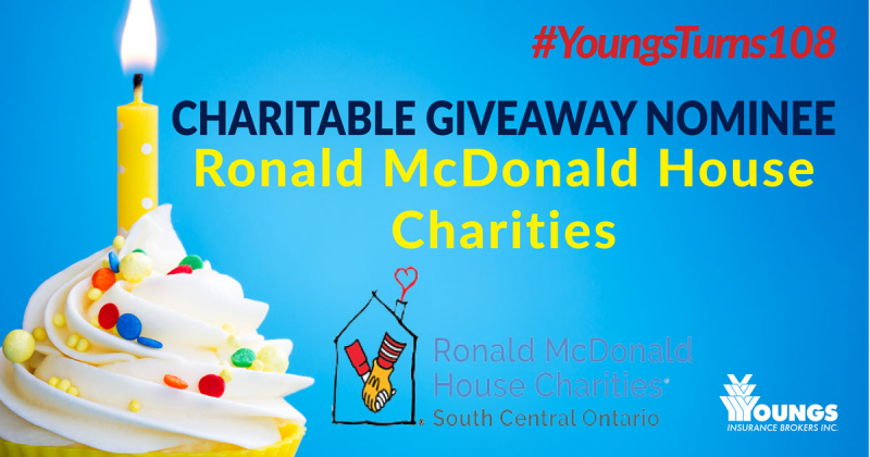 Youngs' 108th Birthday Charitable Nominee | Ronald McDonald House Charities South Central Ontario