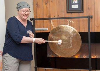 Striking Celebration Gong a 'joyful sound' for cancer patient