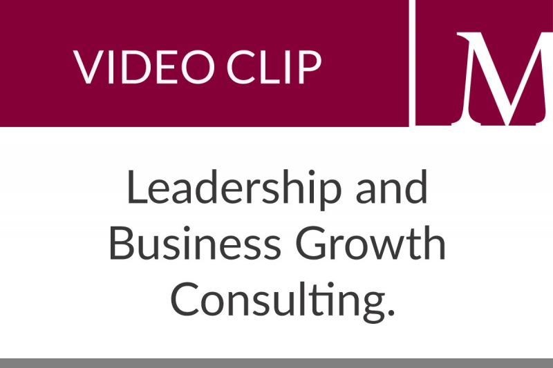 Leadership and Business Growth Consulting (1:00 min)