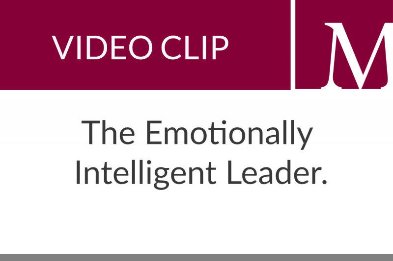The Emotionally Intelligent Leader (49 sec)