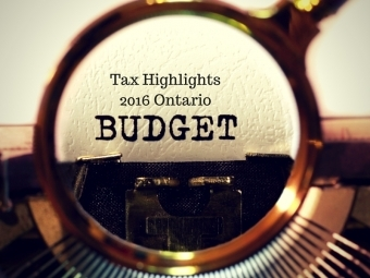 2016 Ontario Tax Budget Highlights