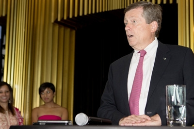 Mayor John Tory joins King & Bay for a private event welcoming delegates from CII to Toronto for TIFF 2018