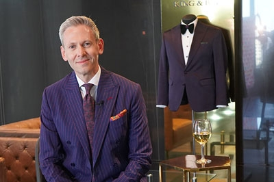 Phelpsgroup Partner Brian Bachand is confident in his bold approach to the traditional blue business suit