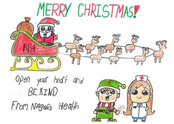 Fonthill girl artist for Niagara Health's 2018 Holiday Card