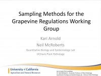 California Department of Food and Agriculture – Grapevine Regulations Working Group