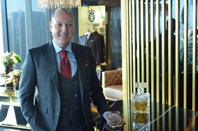 Whiskey expert Tom Vanek looks to King & Bay for the style to match his premium tasting events