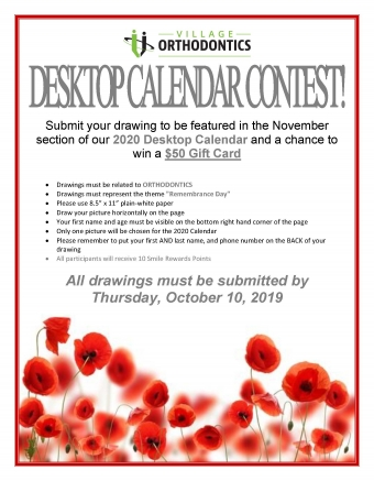 November Desktop Calendar Contest