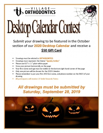 October Desktop Calendar Contest