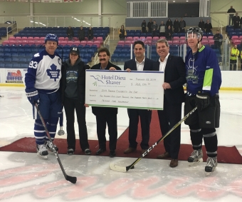 Celebrity Ice Cup Scores Big for Hotel Dieu Shaver