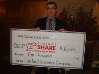 $10,000 donation to Project Share from Intact Insurance