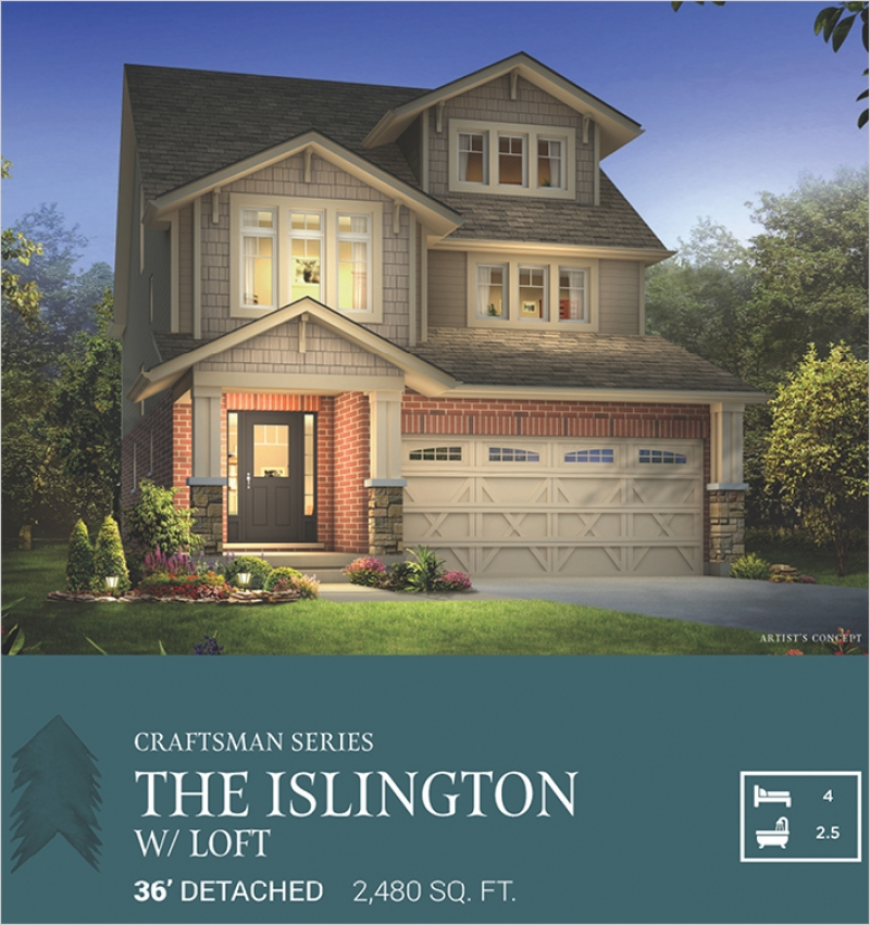 Craftsman Series | The Islington with Loft<br /><span style='font-size: 10pt;'>Pinehurst</span>