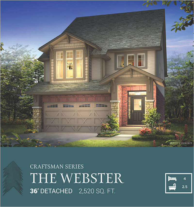 Craftsman Series | The Webster<br /><span style='font-size: 10pt;'>Pinehurst</span>
