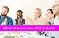 RIBO Level 1 Licensing Course 2018 Top Students