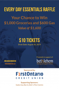 Purchase Your Tickets Today For a Chance to WIN $1600 in Gas and Groceries