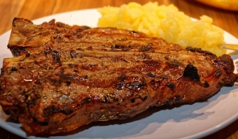 Celebrate the long weekend with steak!  Canadian AA T-bone steak that is, on special for $11.99 a pound!