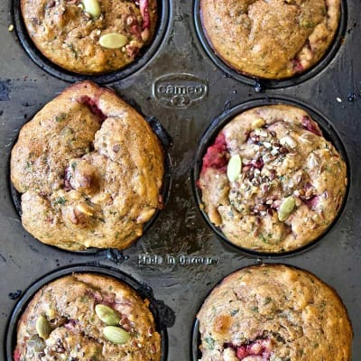 Conversations with a Dietitan + Roasted Strawberry Recovery Muffins