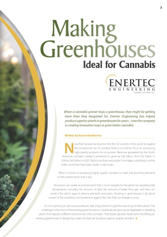 Making Greenhouses Ideal for Cannabis