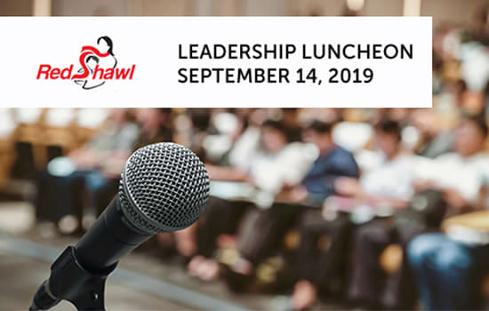 Speaker | 7th Annual Red Shawl Leadership Luncheon | September 14, 2019