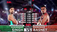 Super Boxing League: Sukhdeep Singh Chakria (Haryana Warriors) vs Manohar Basnet (Punjab Sultans)