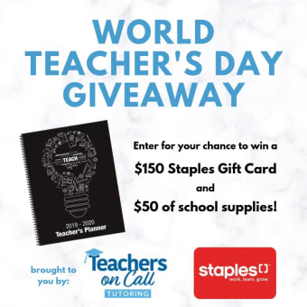 Enter to Win our Teacher Appreciation Contest