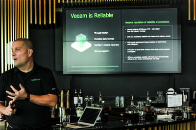Veeam, a global leader in data protection, hosts the ideal sales event in the King & Bay lounge