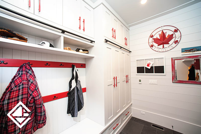 A Mudroom Design with Style & Accessibility