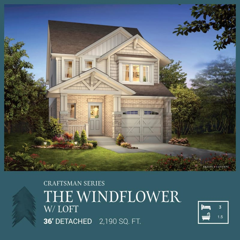 Craftsman Series | Windflower with Loft<br /><span style='font-size: 10pt;'>Pinehurst</span>