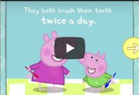 Watch Video: Peppa and George take good care of their teeth.