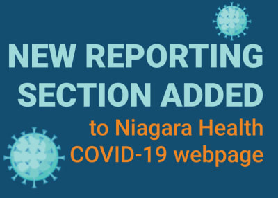 New reporting section added to Niagara Health COVID-19 webpage