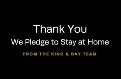 The King & Bay team sends a virtual 'thank you' to the front line workers keeping our communities safe