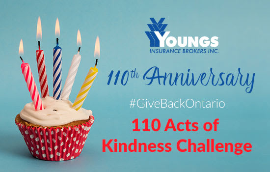 110th Anniversary | #GiveBackOntario 110 Acts of Kindness Challenge
