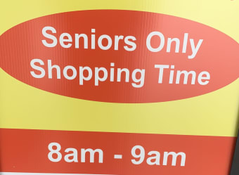 SENIOR'S ONLY HOUR, time change!  As of May 19th, Senior's only hour is 8 am to 9 am, on Monday, Wednesday and Friday!