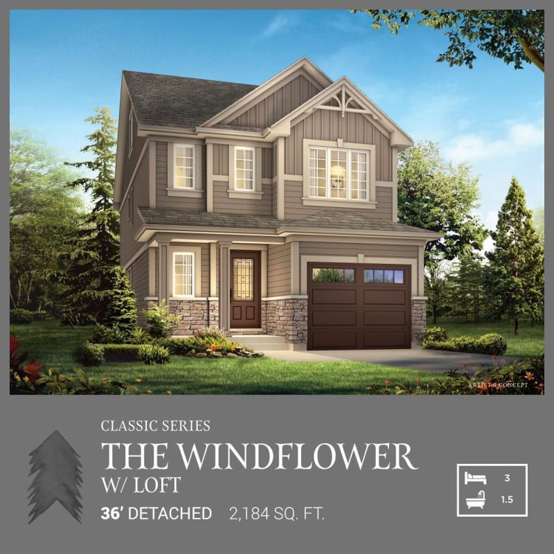 Classic Series | The Windflower with Loft (Spec Home)<br /><span style='font-size: 10pt;'>Pinehurst - Paris</span>