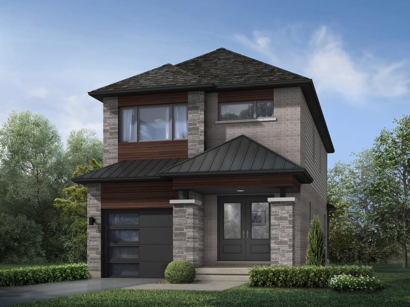 The Spencer | Two Storey - A Elevation<br /><span style='font-size: 10pt;'>Hearthstone Circle - Guelph</span>