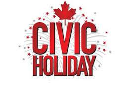 We're open on the Civic Holiday, Monday August 3rd, 8:30 a.m. to 6 p.m.!