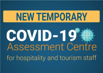 Niagara Health's new temporary COVID-19 Assessment Centre opened today for hospitality and tourism staff