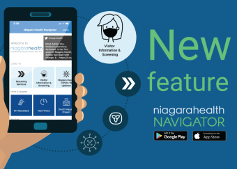 Visitor information and screening form now available on the Niagara Health Navigator app