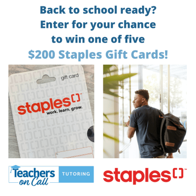 Back to School Ready? Enter for Your Chance to Win One of Five $200 Gift Cards from Staples