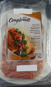 RECALL: Compliments Smoked Beef Pastrami