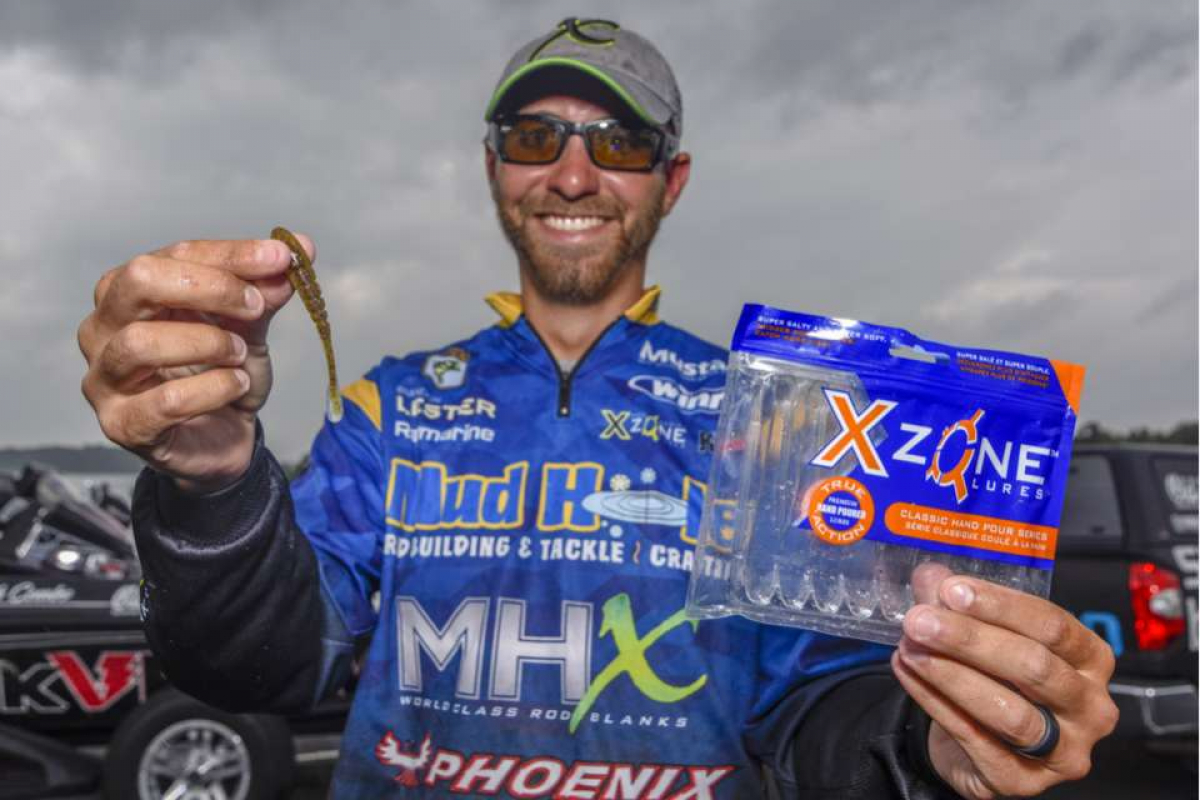 X Zone Lures was a featured bait on Bassmaster with Brandon Lester finishing 3rd on St. Lawrence