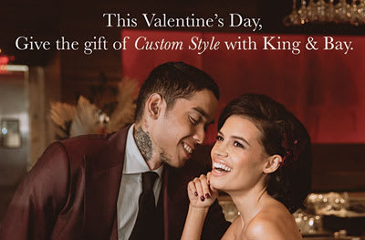 Let King & Bay help you create a perfect gift for your loved one this Valentines Day
