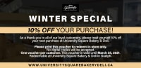 Winter Special: 10% off your purchase!
